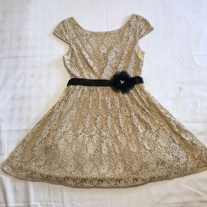 Tan/Cream Lace Dress from Macy's